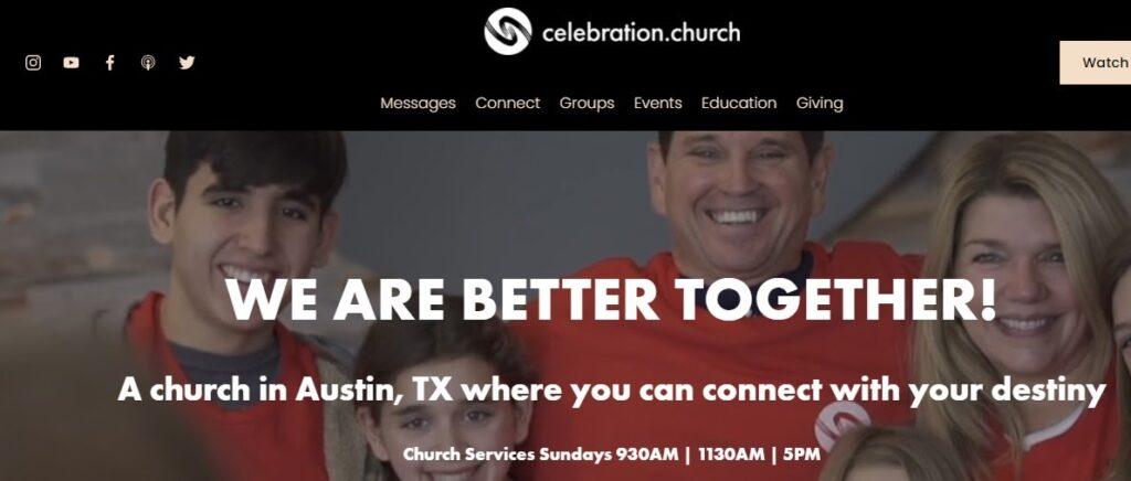 Celebration Church website