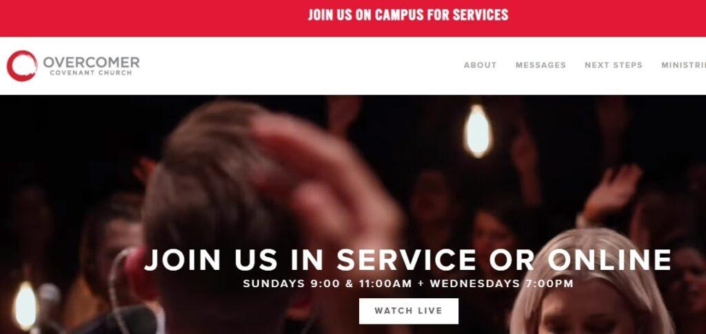 Overcomer Covenant Church website
