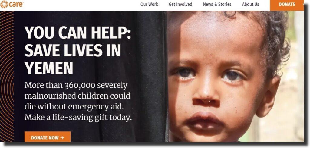 Care Nonprofit Website