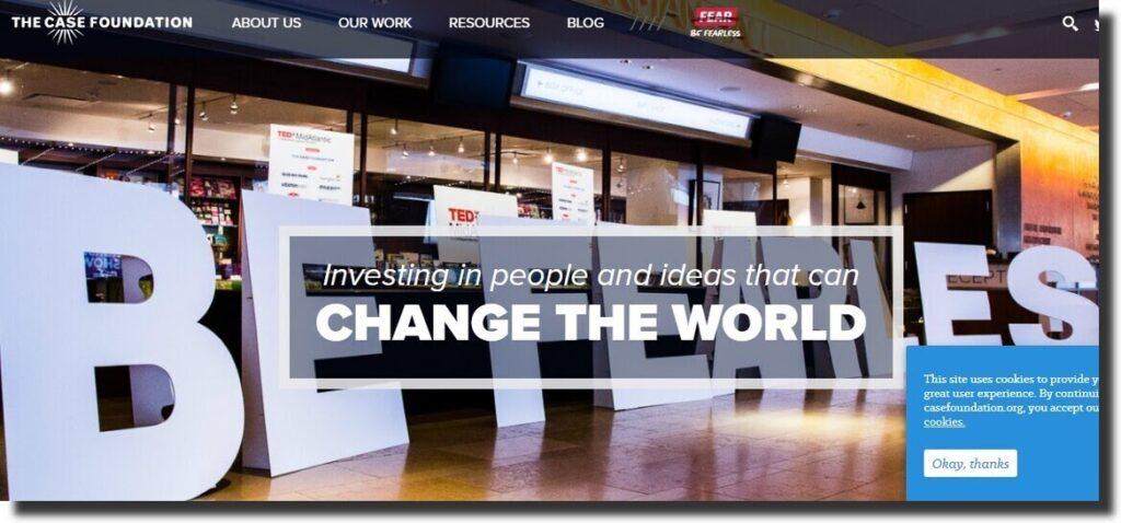 Case Foundation Nonprofit Website