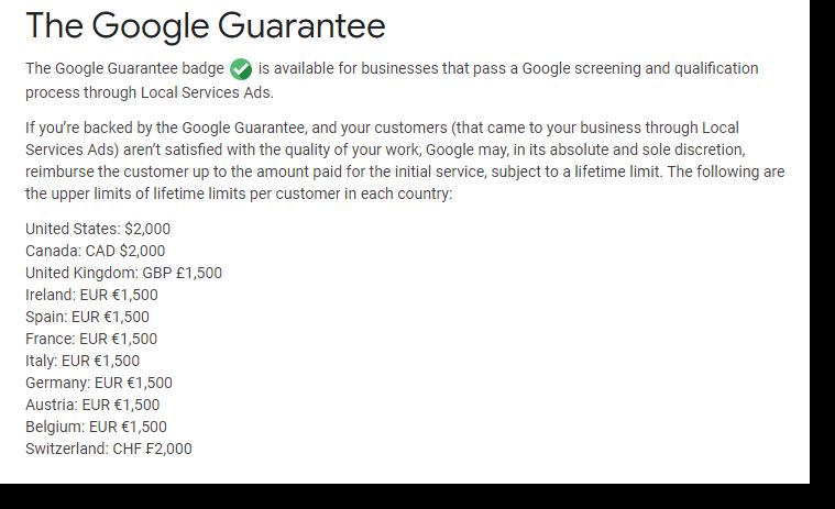 Google Guarantee Program