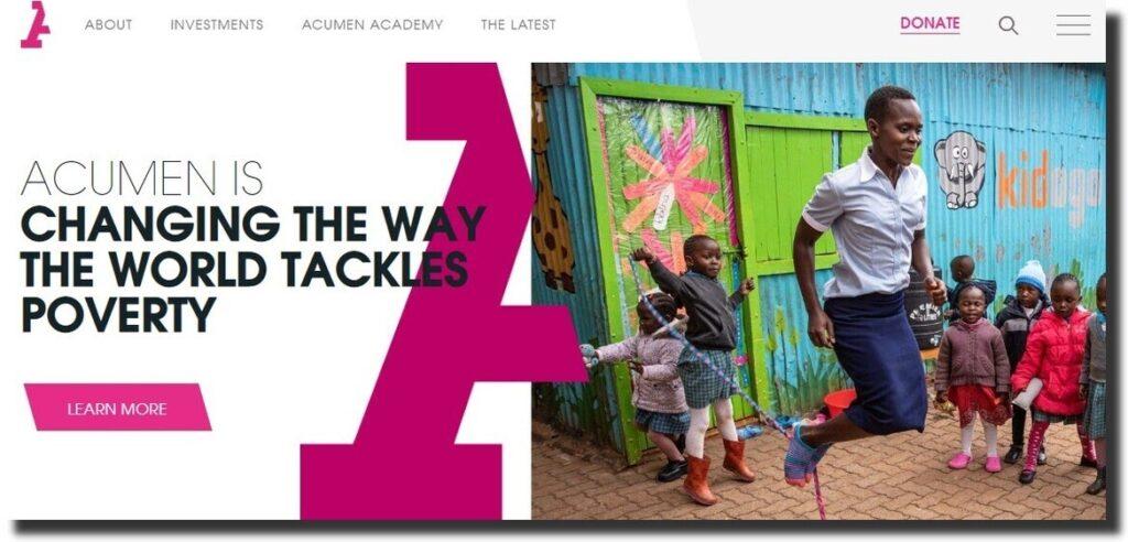 Acumen Nonprofit Website