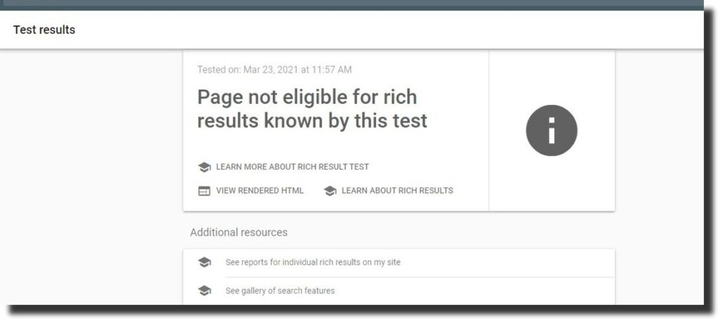 rich results tool