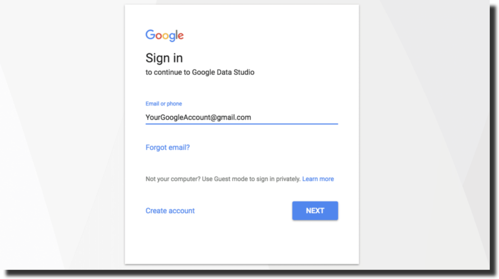 to log in to your Google account