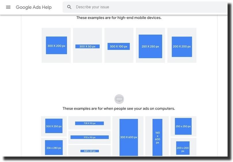 Google display ad sizes