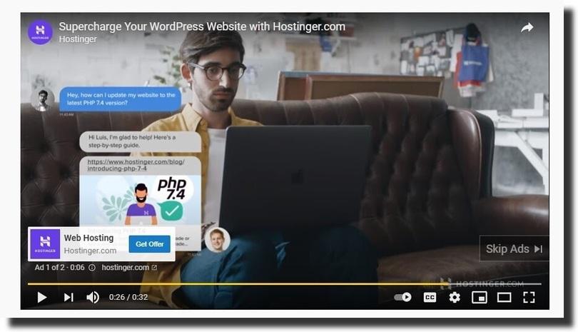 Hostinger ad