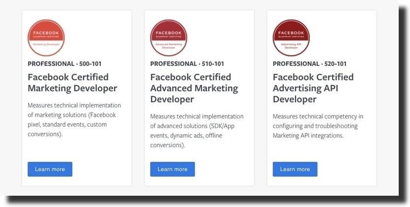 facebook certification courses