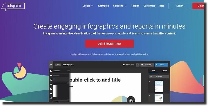 infogram infographic creation tool