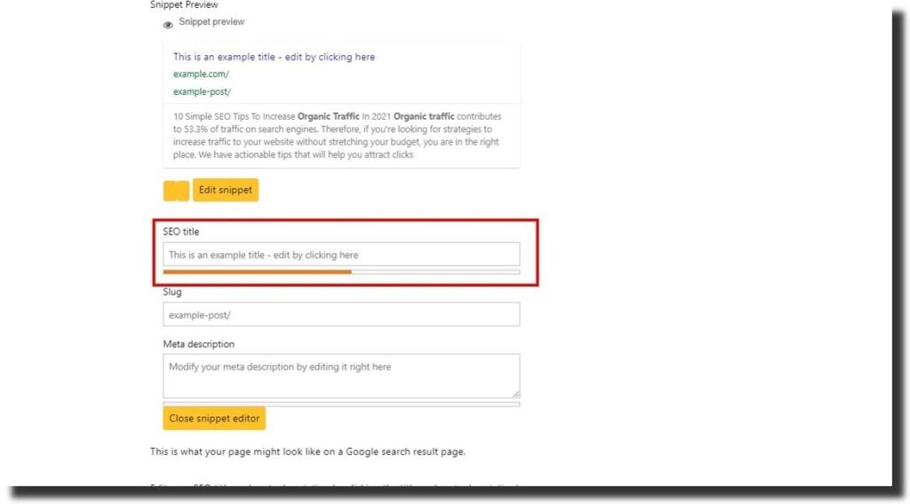 on-page seo for organic traffic