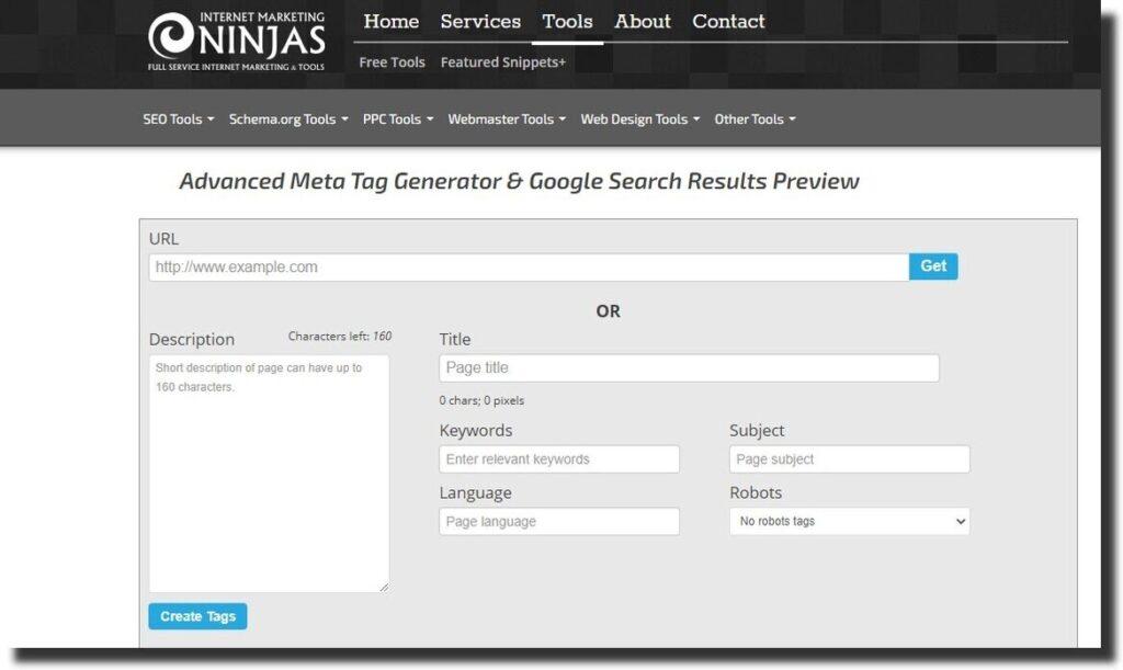 Ninjas Advance Meta tags generator