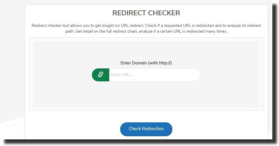 Redirect Checker by SmallSEOTools