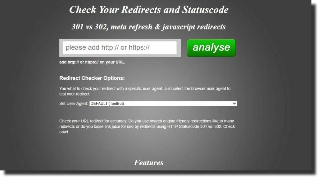 Redirect Checker 301 VS 302