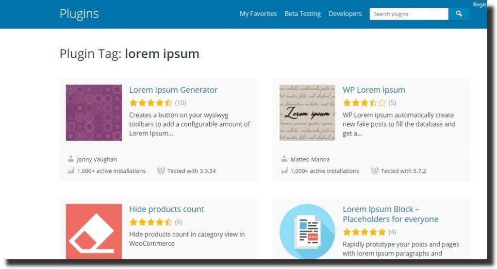 wordpress lorem ipsum plugins