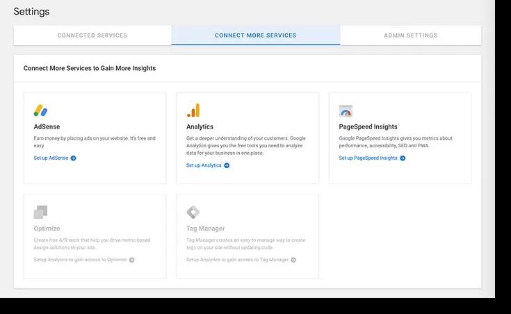 google site kit services